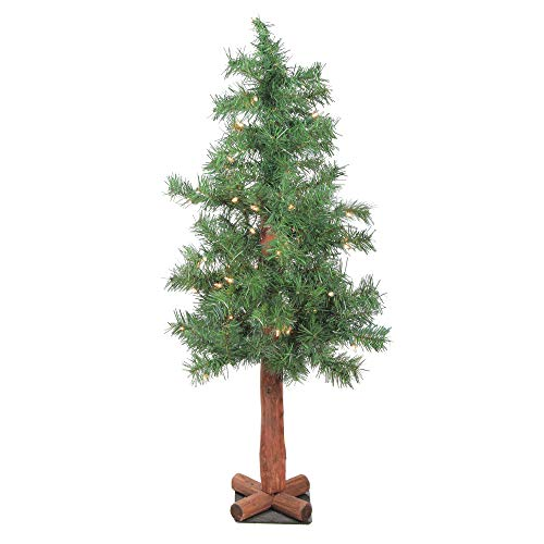 (Northlight 3' Traditional Mixed Green Woodland Alpine Artificial Christmas Tree - Unlit )