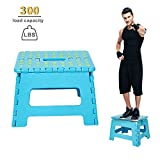 Dporticus Super Strong Folding Step Stool with Handle 300 LB Capacity for Adults, Toddlers and Kids, Kitchen, Garden, Bathroom