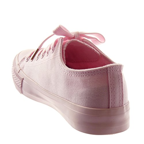 Tennis 5 Fashion Light Heel cm Pink Women's Angkorly Trainers 1 Pastel Shoes Flat OqPInxw5z4