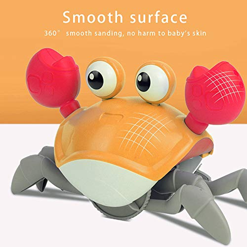 Baby Bath Toys - Two Play Ways Wind Up Baby Toys, Floating Crab Kids Bath Toys for Toddlers Swimming Pool Bathroom (Orange Crab)