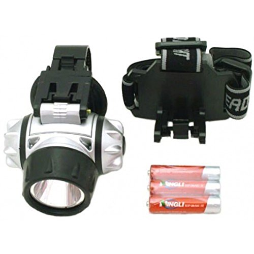 1 Watt LED Black And Silver Head/Bicycle Lamp, Set of 2 by GET001
