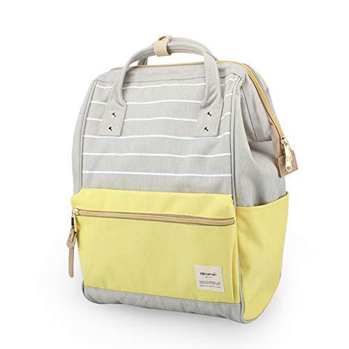 Gray Womens Backpack (Himawari Travel Backpack Large Diaper Bag Doctor Bag Backpack School Backpack for Women&Men (Gray & Yellow))