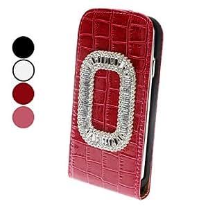 hao Rhinestone Decorated Crocodile Skin PU Leather Case for Samsung Galaxy S4 I9500 (Assorted Color) , White