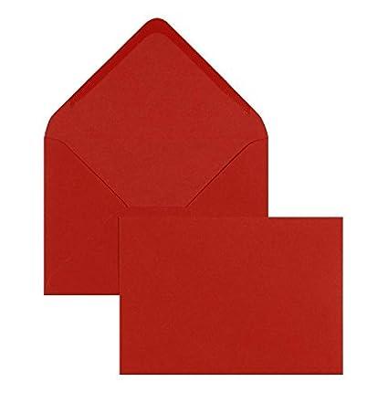 50 farbige Briefumschläge Din C6 rot Farbe