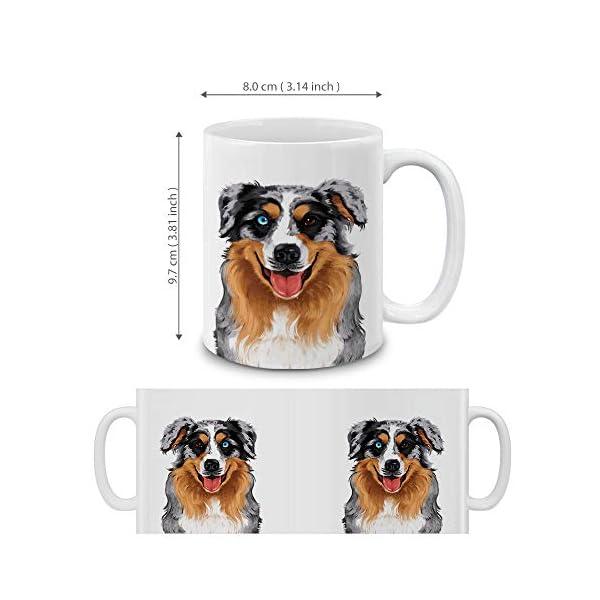 MUGBREW Cute Merle Aussie Australian Shepherd Dog Full Portrait Ceramic Coffee Gift Mug Tea Cup, 11 OZ 4
