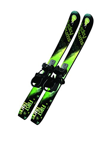 Lucky Bums Kids' Beginner Snow Skis without Poles, Green/Black - 70 Centimeter