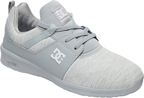 DC Women's Heathrow TX SE Skate Shoe, Grey/Grey/Grey, 8 B US