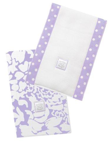SwaddleDesigns Burpies Cotton Cloths Lavender