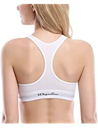Women's 3 Pack/1 Pack Cotton Bralette Comfort Bra with Pullover Racerback
