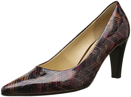 Gabor Shoes Fashion, Zapatos de Tacón para Mujer Multicolor (Black/CHIANTI 95)