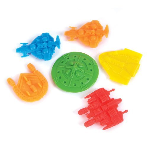 Pack 144 Space Ships: Assortment of 1.5 inch Plastic UFOs in Assorted (Small Star Wars Toy Ship)