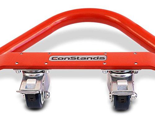 ConStands Mover I Motorrad Montagest/änder Ducati 959 Panigale Rot Hinten Rangierhilfe Hinterrad-St/änder Heber Universal
