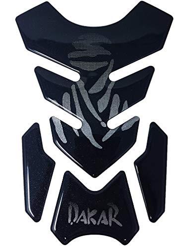 Quattroerre 4R Quattroerre.it 18137 Tankpad 3D-sticker voor motorfiets Full, Dakar, 19 x 13 cm
