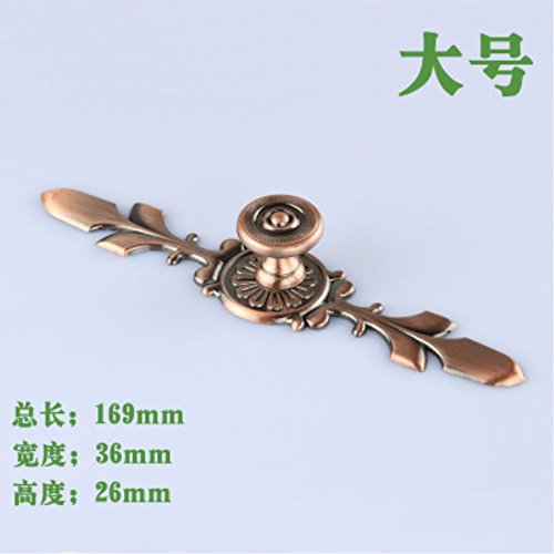 4pcs/set 169X36X26mm Red Bronze Single hole simple drawer cabinet door handle Pull With Base L Size