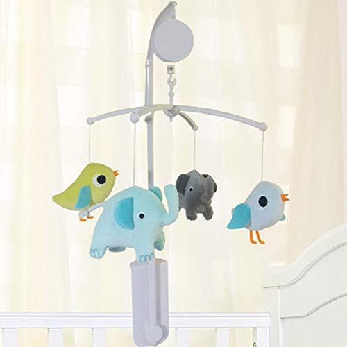 (Nursery Crib Musical Mobile Owl/Elephant & Birds/Whale/Sports Crib Mobile for Baby Boy Baby Girl (Elephant& Birds))