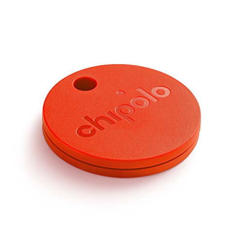 CHIPOLO PLUS (GEN 2) - Bluetooth Tracking Device to Easily Find Your Lost Keys, Wallet, Phone, Bag, Backpack, Etc. Loudest Speaker Alert on the Market (100 dB). Water Resistant. (Red)