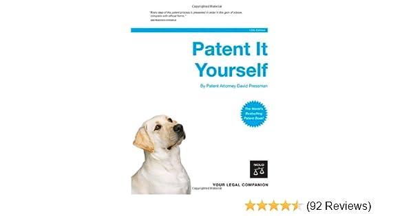 Amazon Patent It Yourself 12th Edition 9781413305166 David