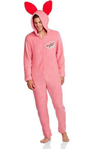 A Christmas Story Mens Pink Bunny Union Suit Pajama (X-Large) - Bunny Costume Man