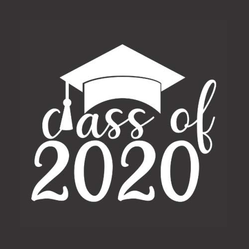Class of 2020: White & Black with Cap: Graduation Party Celebration Memory Book Guestbooks for High School, Community College, University, Trade ... High School & College Graduation Guest Books)