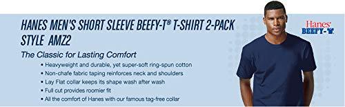 Hanes Men's Short Sleeve Beefy-T (Pack of 2)