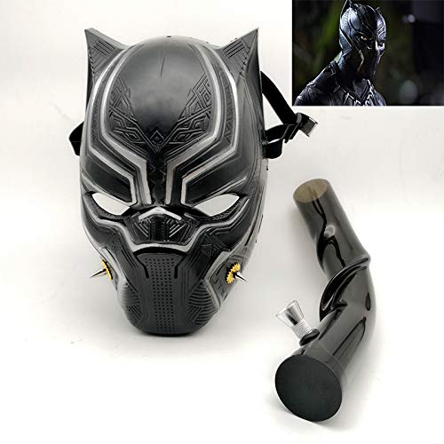 Gas Mask Bong Water Pipe Tobacco Hookah for Party Black Panther Costume