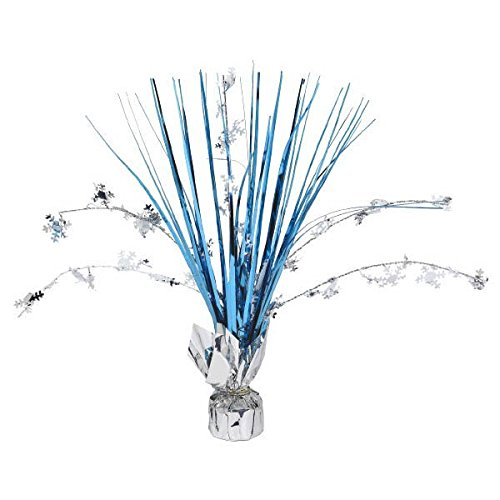 amscan Snow Flake Foil Spray Centerpiece | Christmas Decoration]()