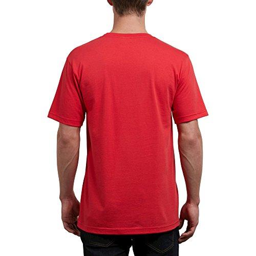 (Volcom Men's Crisp Euro Short Sleeve Tee, True RED, S)