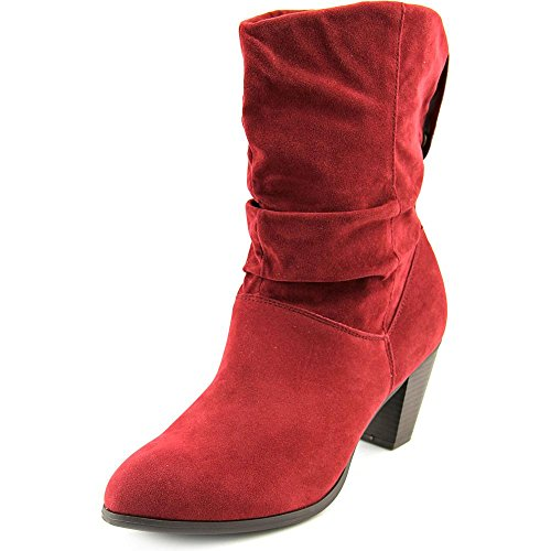 Rampage Womens TRIXEN Round Toe Suede Western Boots