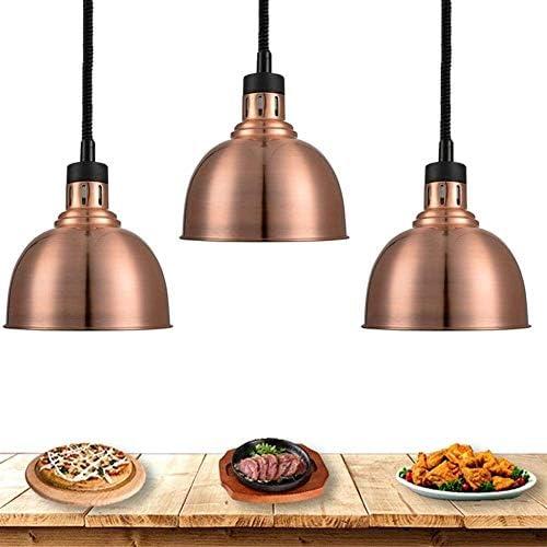 LAMTON 3er-Pack Lebensmittel Wärmelampe for Catering Parteien Buffets Restaurants, Küche Licht tragbare Kostwärmer Lebensmittel Wärmelampe mit Birne 250W, Lebensmittel Holding & Warming Ausrüstung