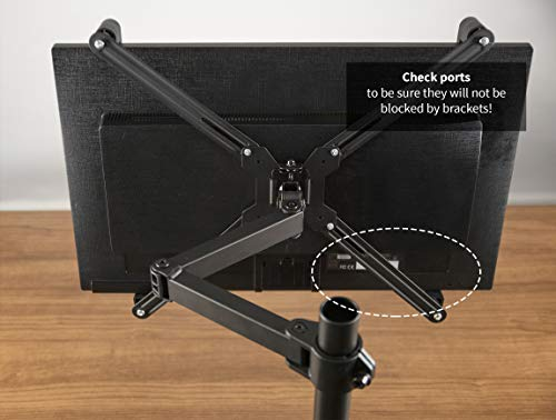 """VIVO Adapter VESA Mount Kit for 20"""" to 30"""" LED LCD Monitor Screen, 75mm and 100mm mounting Bracket (Stand-VAD1) by VIVO (Image #4)"""