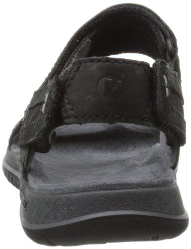 Merrell Uomo Viaggiatore Inclinazione Cabriolet Sandalo Nero