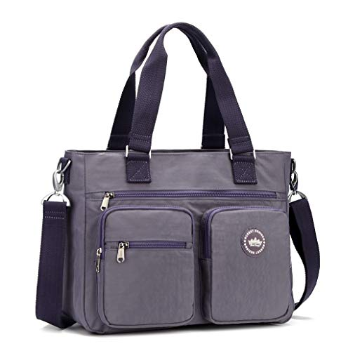 Crest Design Water Repellent Nylon Shoulder Bag Handbag,