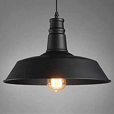 Pendant Light, BAYCHEER HL371749 Industrial Retro style Large Hanging Lights Lamp Modern Chandelier for Barn Warehouse use 1 E26 Bulb , Black