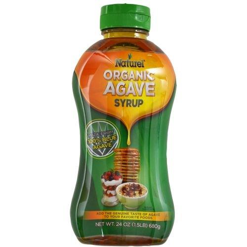 Naturel Organic Light Agave Syrup, 24 Ounce Bottle - 8 per case.