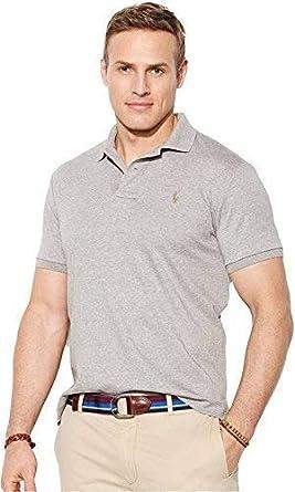 f61e22620 Polo Ralph Lauren Men s Regular Fit Half Sleeve Pima Soft Touch Polo T-Shirt  Grey