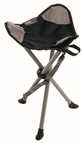 TravelChair Slacker Chair, Black - Portable Folding Stool