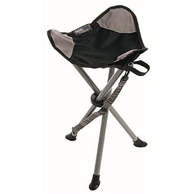 TravelChair Slacker Chair Folding Tripod Camp Stool, Black