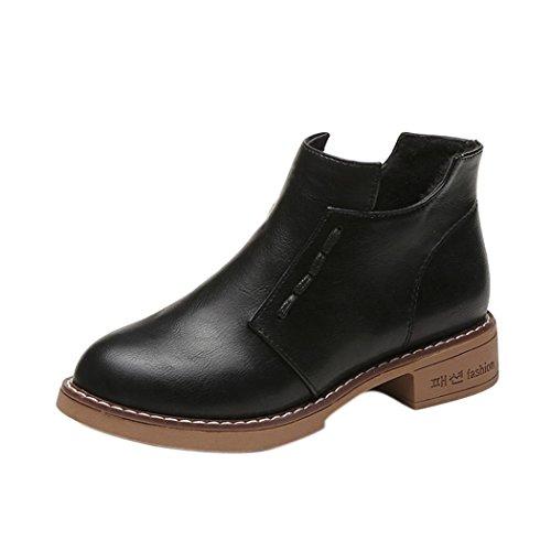 Colorful TM Fashion Women Single Short Boots Women British Martin Boots Zip Women Boots Shoes Black