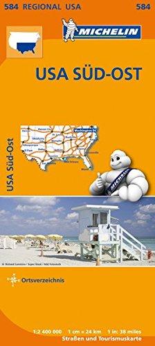 Michelin USA Süd-Ost: Straßen- und Tourismuskarte 1:2.400.000 (MICHELIN Regionalkarten)