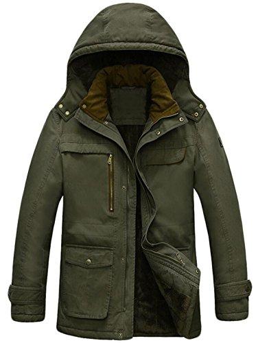 ArmyGreen And Jacket Big Coat Down XXL US Cotton EKU Outdoor Lined Fur Men's Tall qwcHzOt