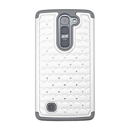 Asmyna Phone Case for LG LS751 (Volt 2) - Retail Packaging - Gray/White
