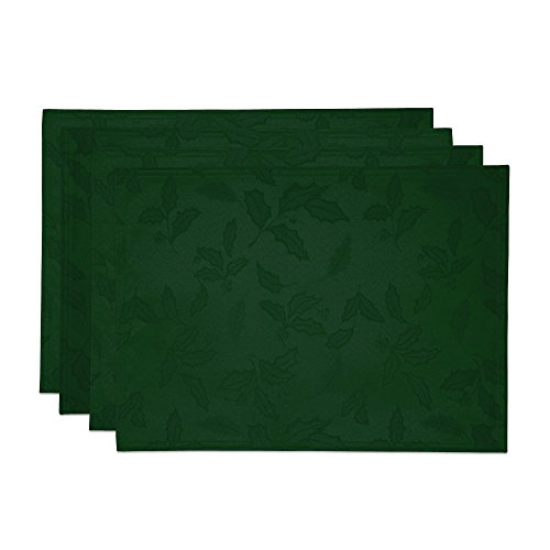 Lenox Holly Damask Placemat, Set of 4, Green