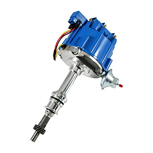 Assault Racing Products 1030213 for Small Block Ford HEI Ignition Blue Cap Distributor with 50K Coil Small Block SBF 260 289 302 ()