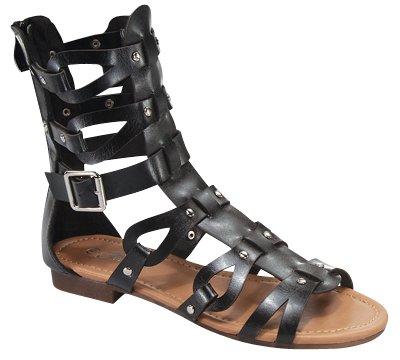 Atta 01 Womens Strappy Gladiator Comfort Flat Sandals Black S5XAfeLE1g