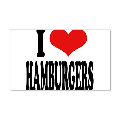 CafePress I Love Hamburgers (Word) 22X14 Wall Peel - 20x12 Wall Decal, Vinyl Wall Peel, Reusable Wall Cling (King Foods Burger)