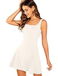 Women's Sleeveless Zipper A Line Party Mini Bodycon Dress