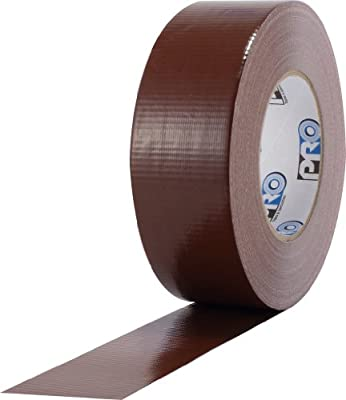 "ProTapes Pro Duct 110 PE-Coated Cloth General Purpose Duct Tape, 60 yds Length x 2"" Width, Brown (Pack of 1)"