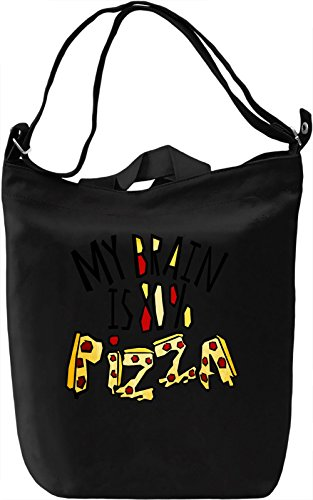 My Brain is 80% Pizza Borsa Giornaliera Canvas Canvas Day Bag| 100% Premium Cotton Canvas| DTG Printing|