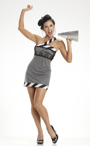 Escante Women's Adult Movie Director Costume Black/White/Grey Large