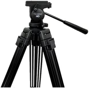 Max Height 59-inches Tripod Supports 6 lbs. Libec TH-650DV Kit with Head Brace /& Case